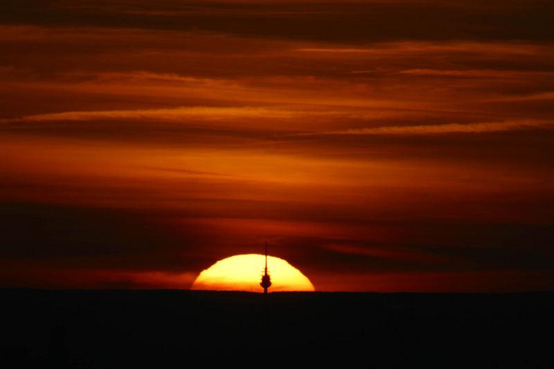 Nürnberger Sonnenuntergang