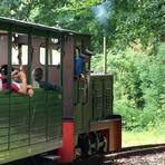 Nun geht`s mit der Waldeisenbahn nach Weißwasser