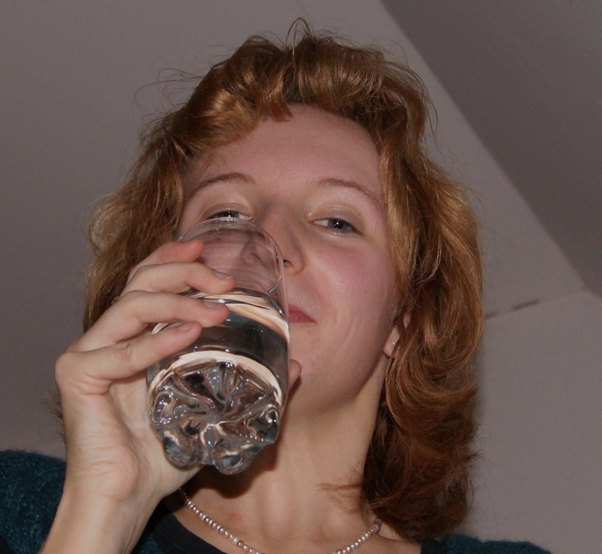 Nur ein Glas Wasser diesmal ..