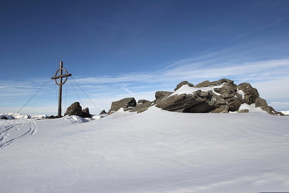 nur noch 50m - zum Gipfel ...... Patscherkofel - Jänner 2016