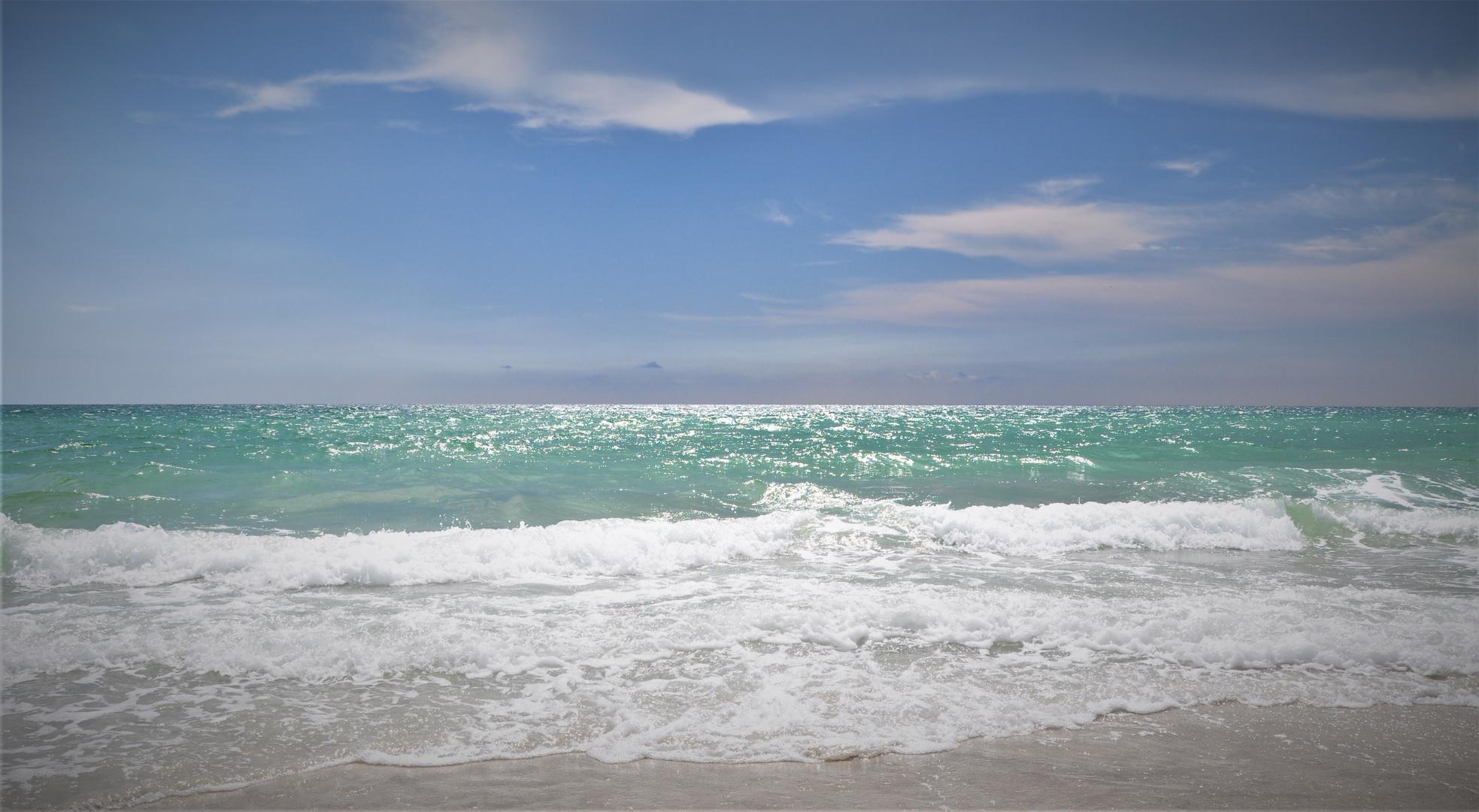 Nur Wasser und Himmel....