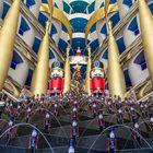 Nussknacker im Burj al Arab (Dubai)