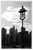 NYC Blick von der Brooklyn Bridge