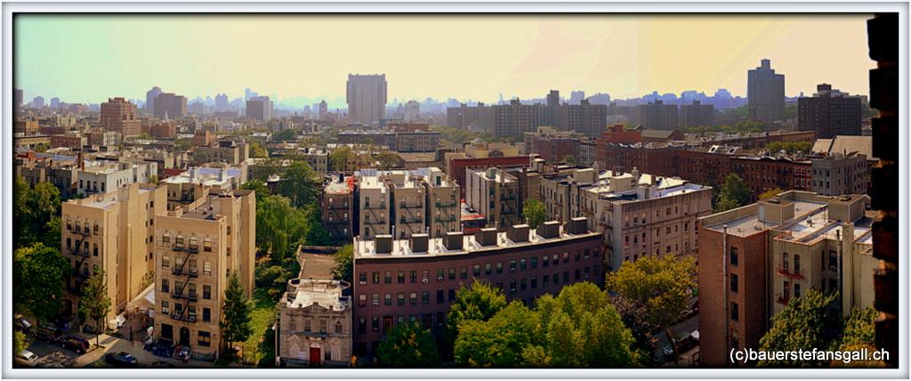 NYC Harlem Sicht aus dem YMCA.