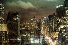 NYC Skyline during Sandy