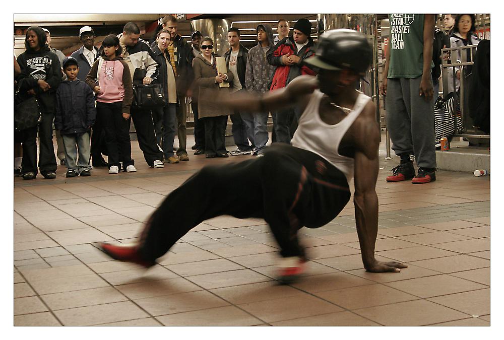 N.Y.C. - street dancing under the street #2