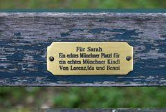Nymphenburger Schloßpark Bankerl