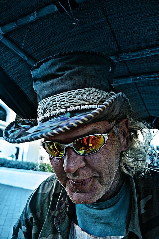 Obdachloser aus Santa Barbara