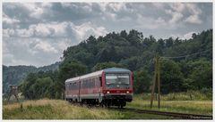 Obere Lahntalbahn mit Telegrafenmasten