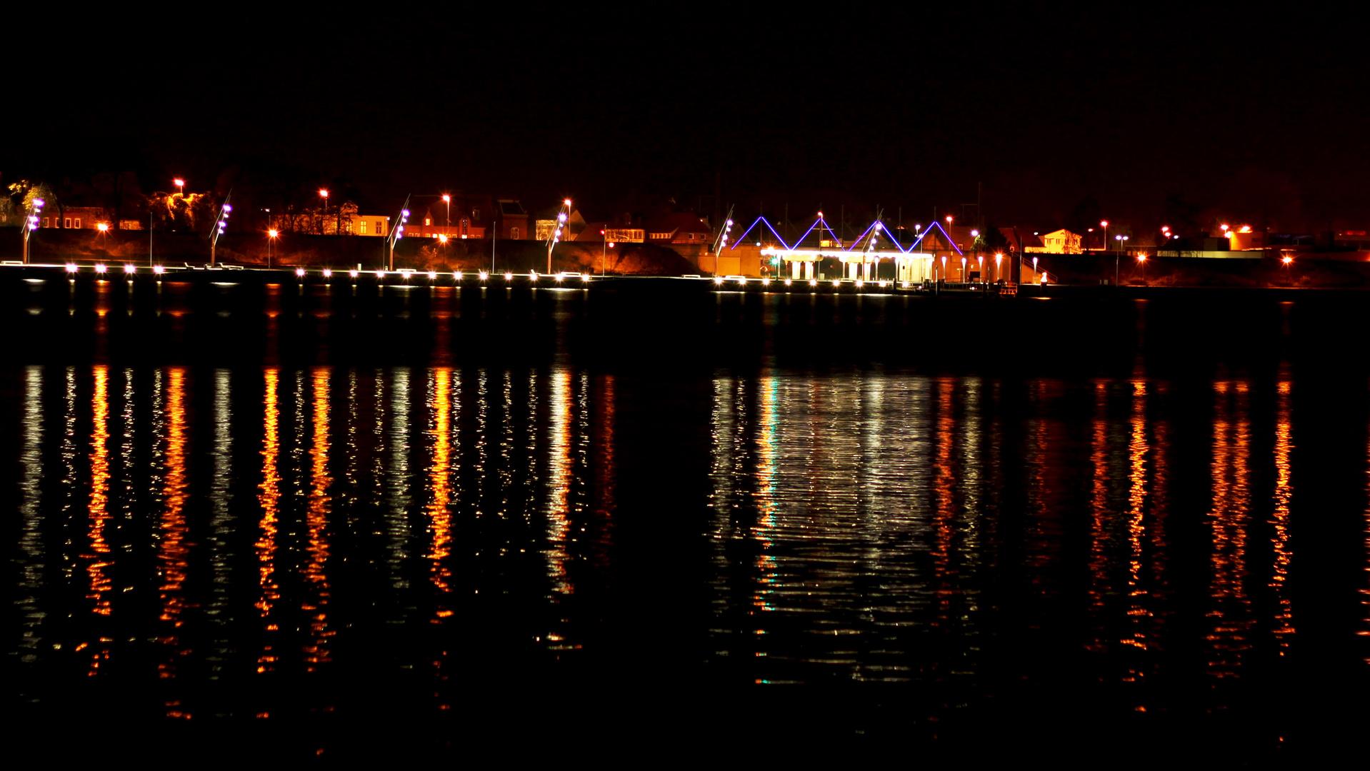 Obereiderhafen bei Nacht