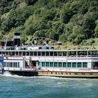Oberes Mittelrheintal - Schaufelradschiff Goethe auf dem Rhein