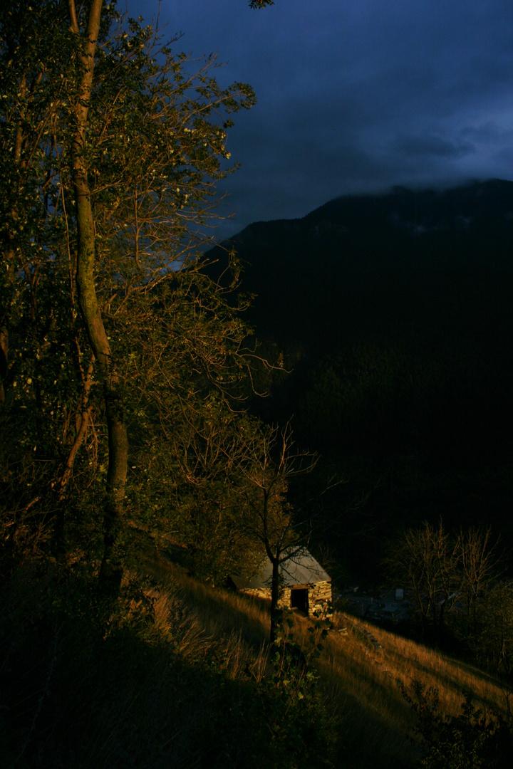 Oberhalb von Lalden