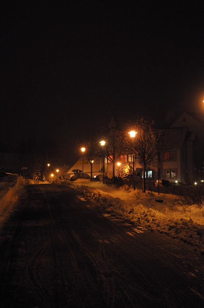 Oberhof bei Nacht