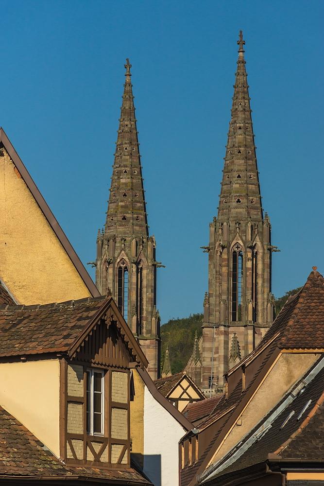 Obernai 01 - Kirchtürme St. Peter und Paul