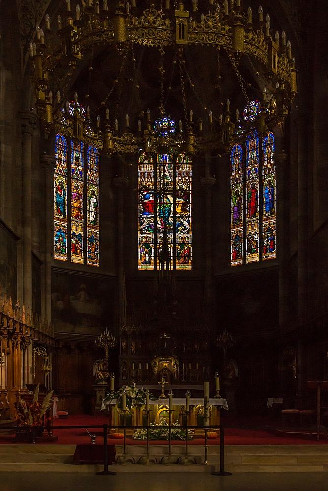 Obernai - Kircheninnenraum St. Peter und Paul