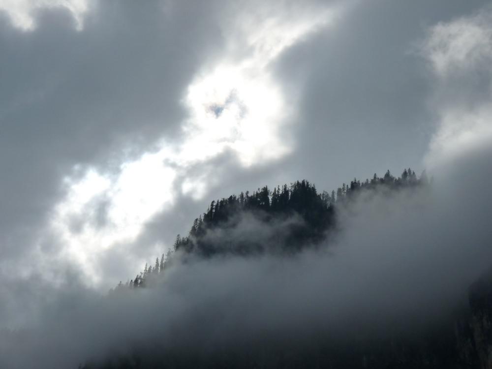 Obersalzberg im Nebel