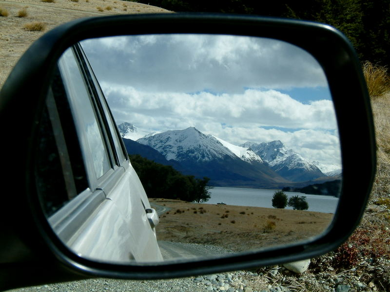 Objects in the rear view mirror may appear closer then they are