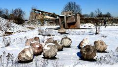 Objekte im Schnee