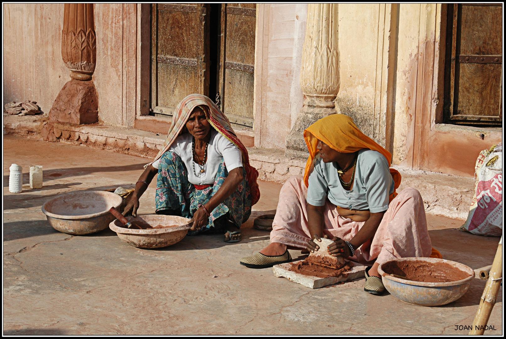 Obreras en India