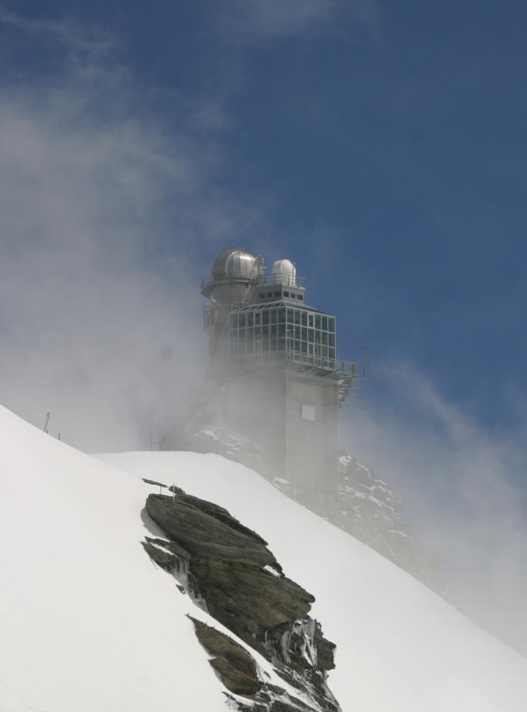 """Observatorium """"Sphinx"""" auf dem Jungfraujoch ..."""