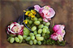 Obst und Blumen