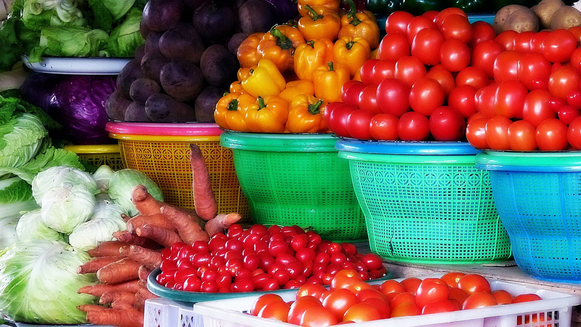 Obst- und Gemüsemarkt Nord-Bali