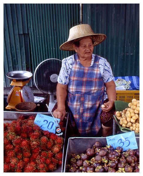 Obstverkäuferin in Bangkok