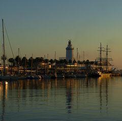 Ocaso en Málaga