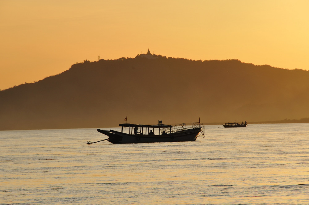 ocaso en Myanmar