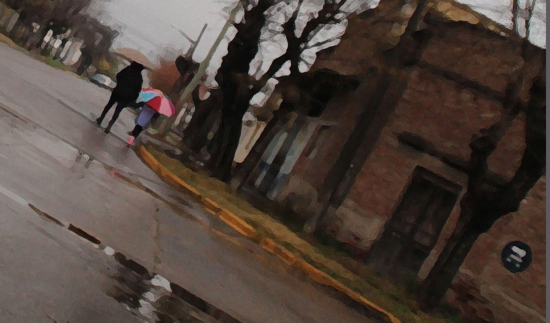 Ochava y paraguas.