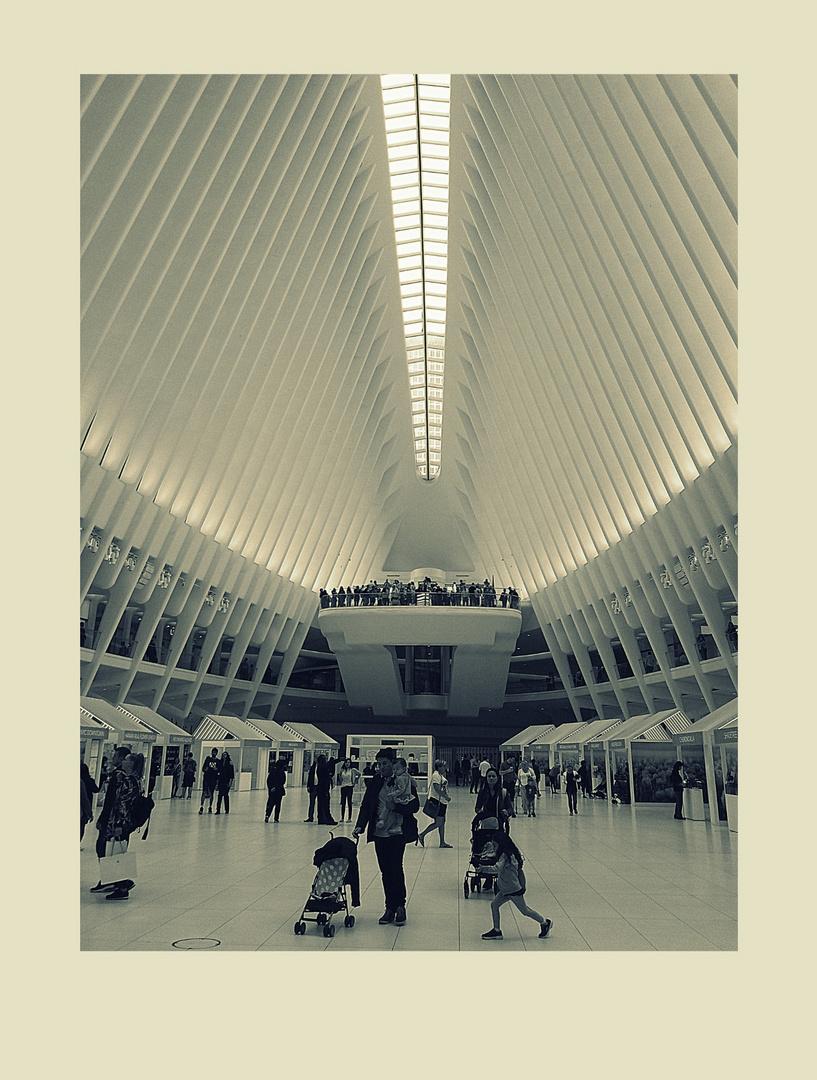 """Oculus"" di S:Calatrava...Interno.."