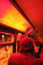Öffentliche Busse für einmal in Rot