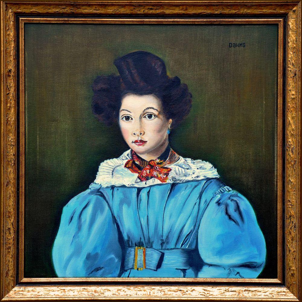 Ölgemälde, Corot  Bildnis Marie-Loise Laure Sennegon