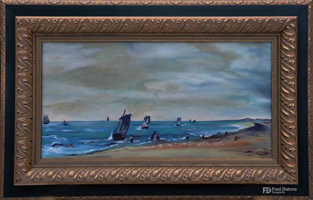 Ölgemälde, Der Strand von Brighton von John Constable