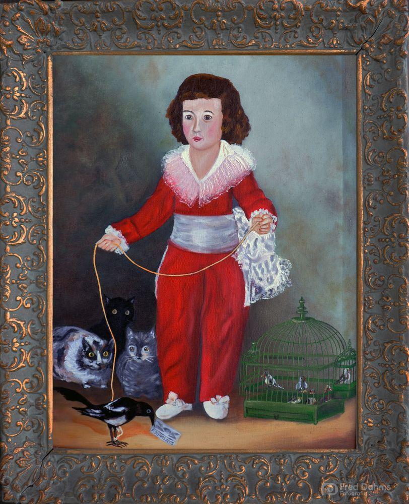 Ölgemälde Die Elster von Goya