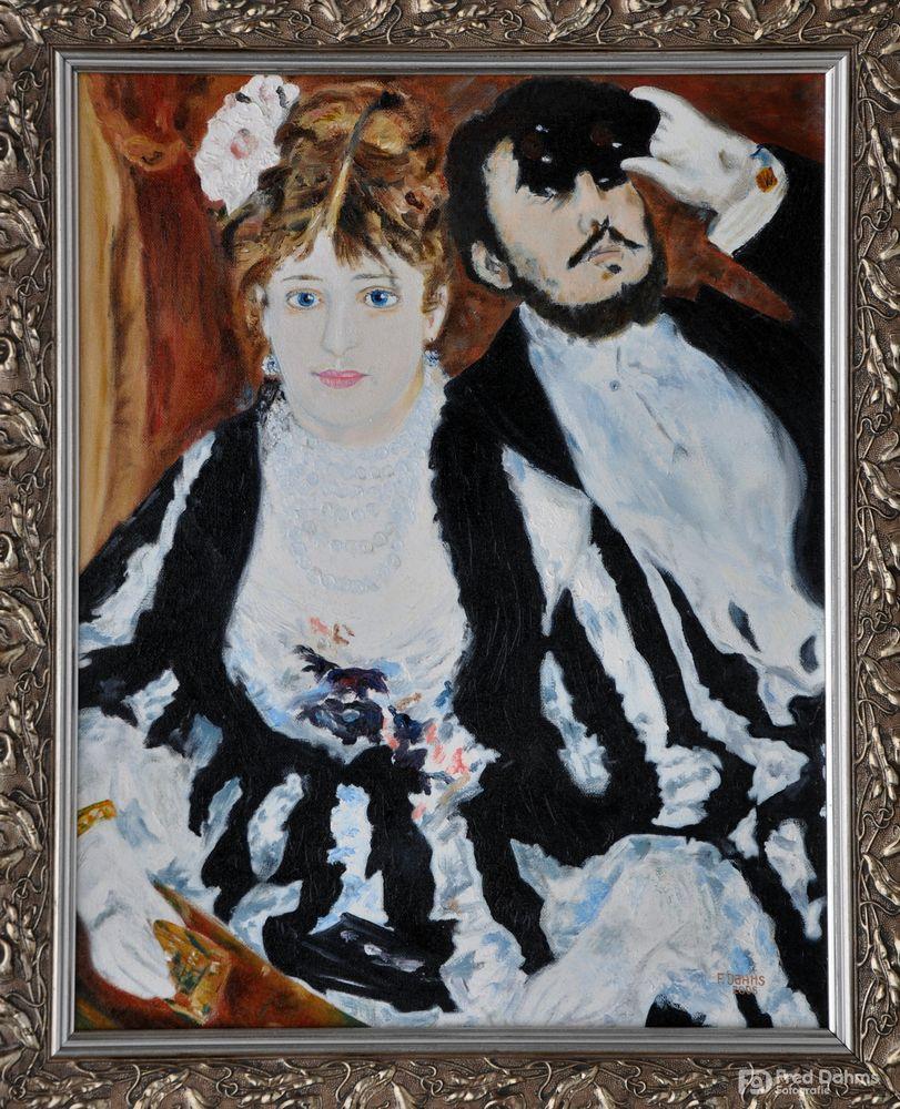 Ölgemälde La Loge von Pierre-Auguste Renoir