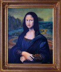 Ölgemälde, Mona Lisa von Leonardo da Vinci