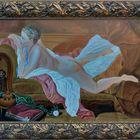 Ölgemälde, Ruhendes Mädchen - Francois Bucher -