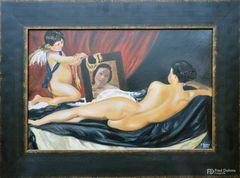 Ölgemälde, Venus und Cupido, 1641 von Diego Velazqez