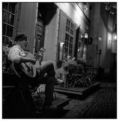 Österlanggatan - wenn es Nacht wird in Stockholm