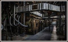 Ofen im Kohlekraftwerk Lissabon