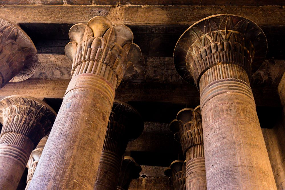 offener mund und 24 säulen