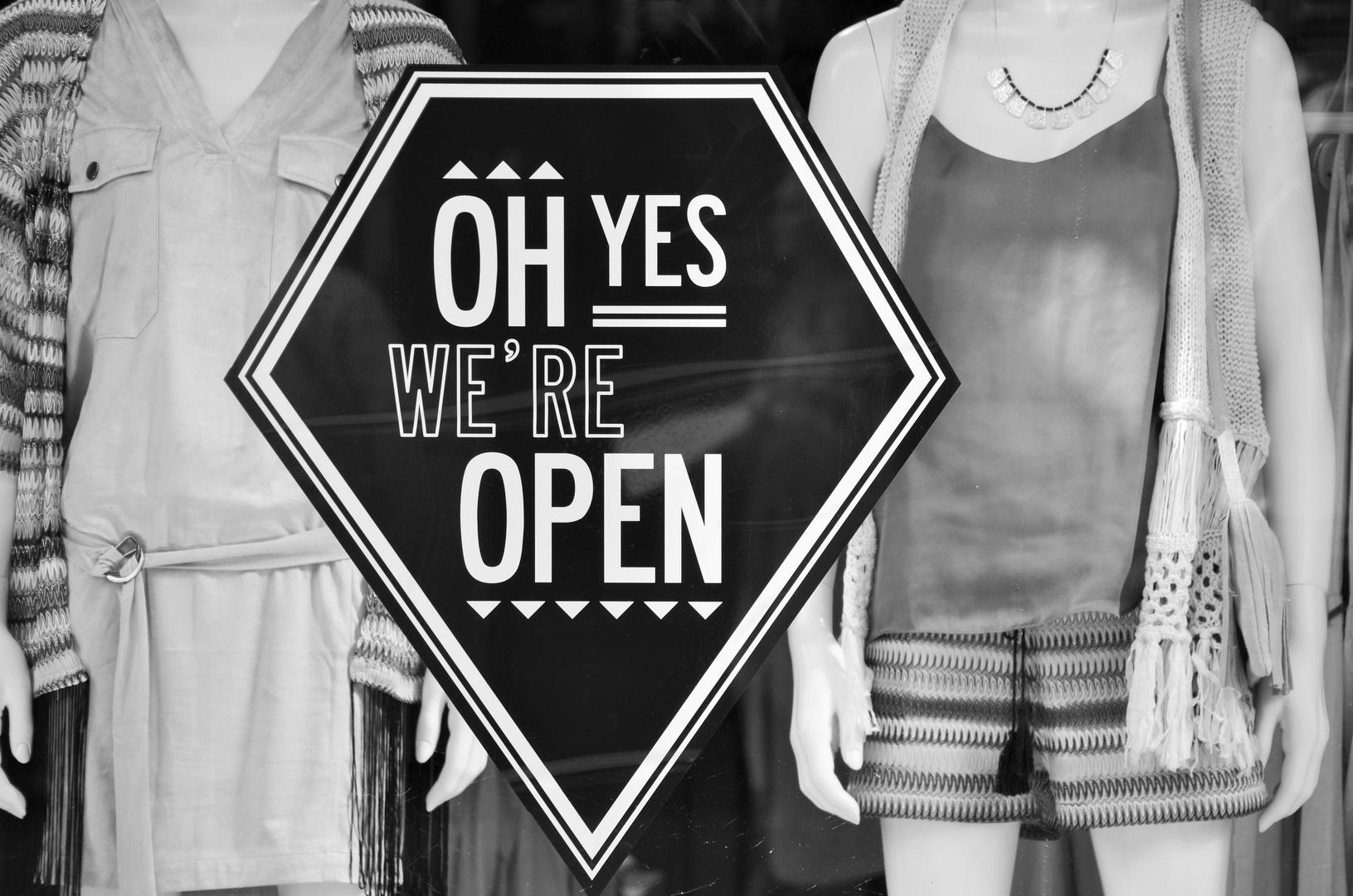 oh yes, we're open   Groningen