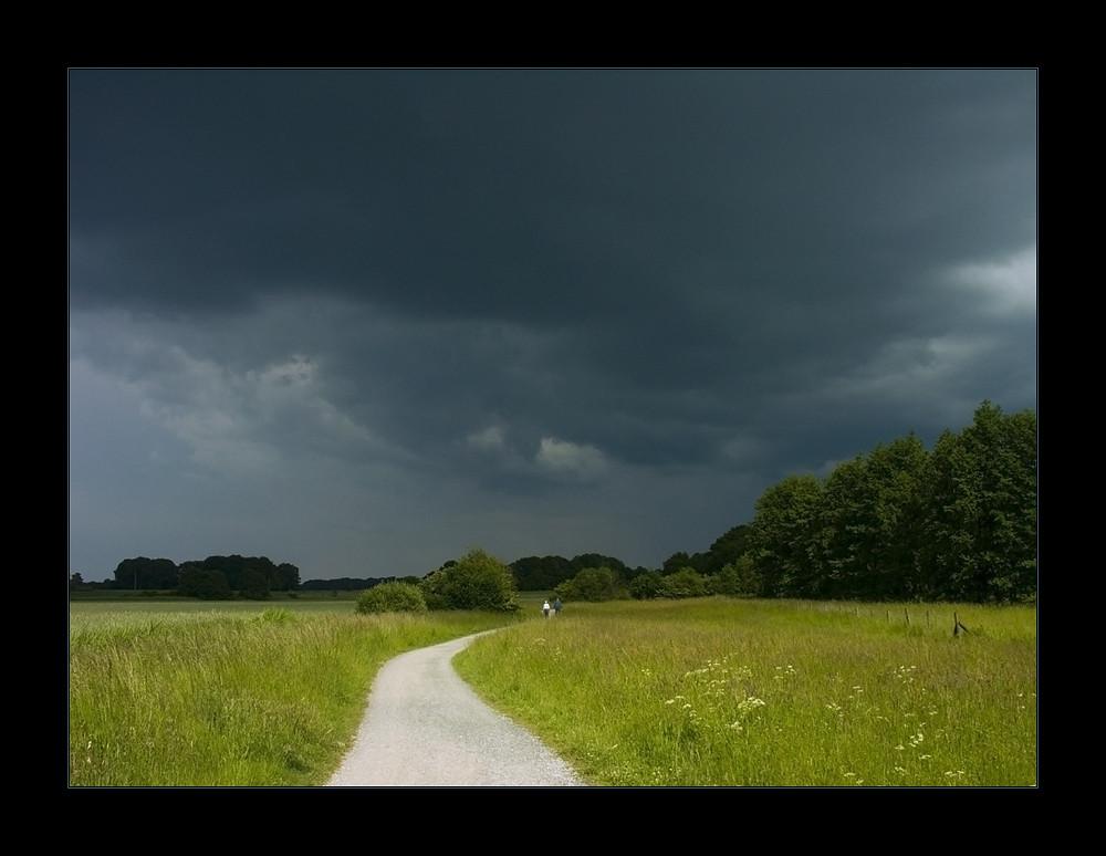 ...ohne Ausweg: dem Gewitter entgegen... - da musste ich durch...