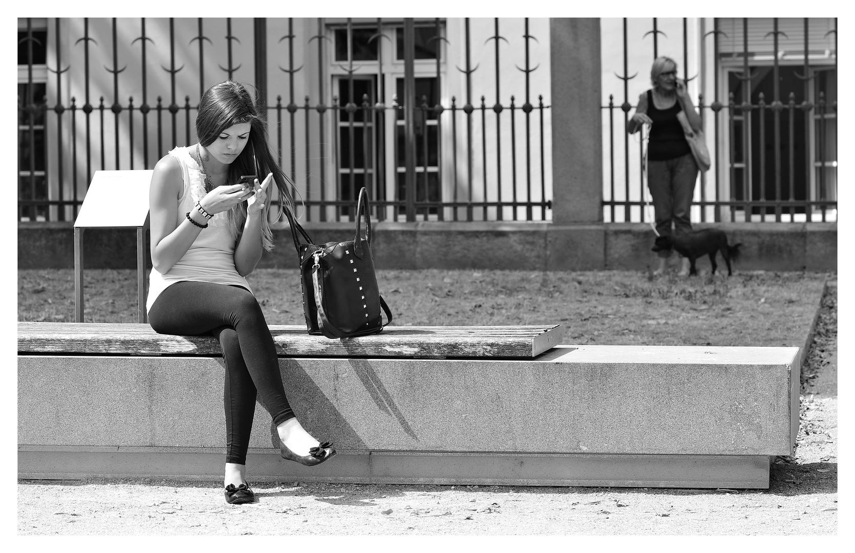 ...ohne Handy gehts nicht...
