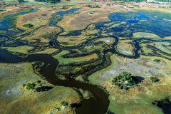 Okavangodelta von oben