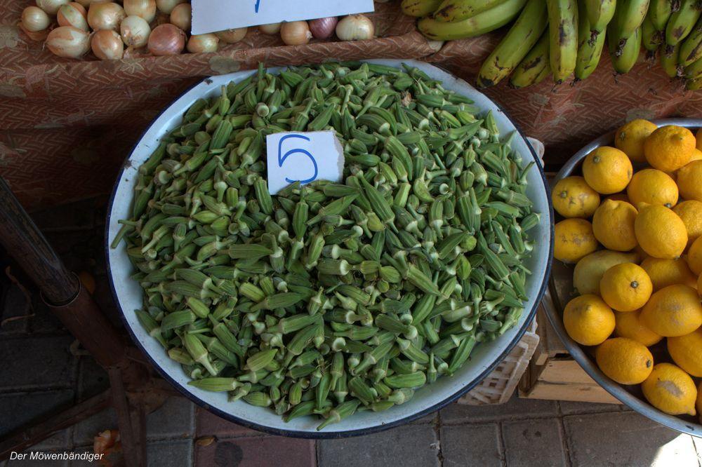 Okra ,5 Türkische Lira das Kilo