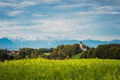 Oktoberlandschaft mit Zugspitze