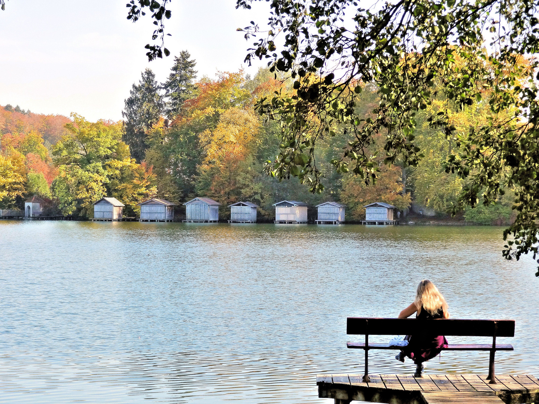 oktobersonne am weßlinger see bei münchen