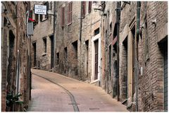 Old alley in Urbino